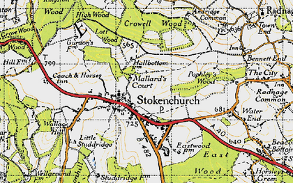 Old map of Stokenchurch in 1947