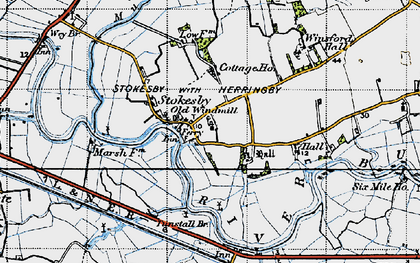 Old map of Winsford Hall in 1945