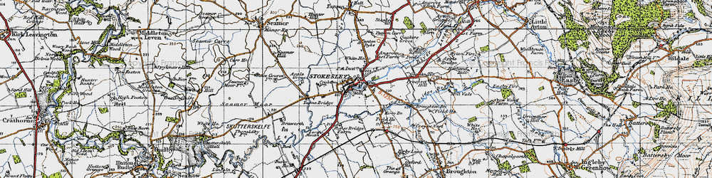 Old map of Stokesley in 1947