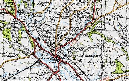 Old map of Stone in 1946