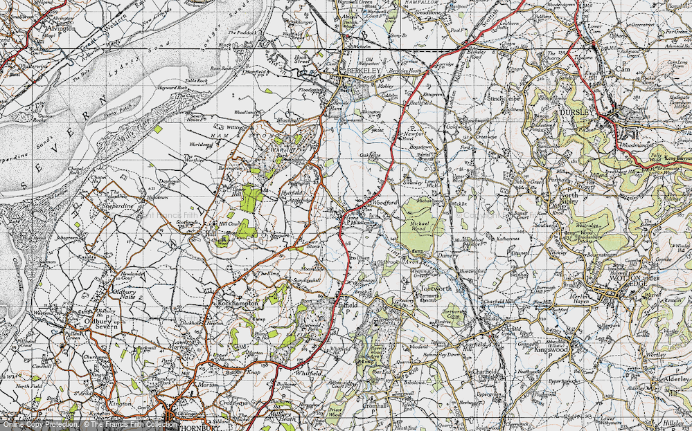 Old Map of Stone, 1946 in 1946