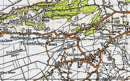 Old map of Lime Breach Wood in 1946