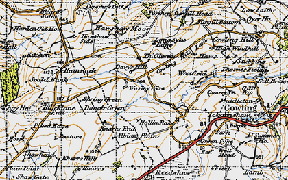 Old map of Laneshaw Resr in 1947