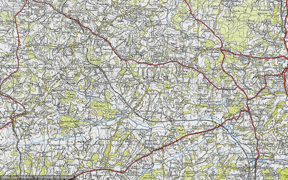 Old Map of Stonegate, 1940 in 1940