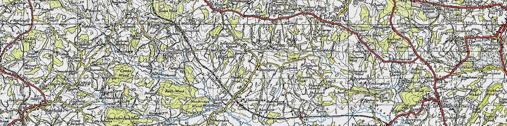 Old map of Stonegate in 1940