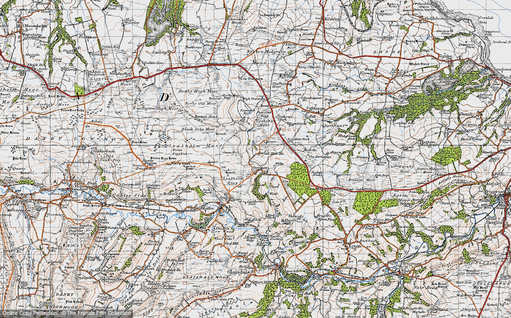 Old Map of Historic Map covering Westonby Plantn in 1947