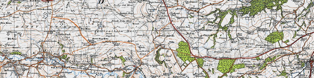 Old map of Westonby Plantn in 1947