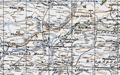 Old map of Linacres in 1947