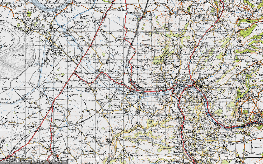 Old Map of Stonehouse, 1946 in 1946