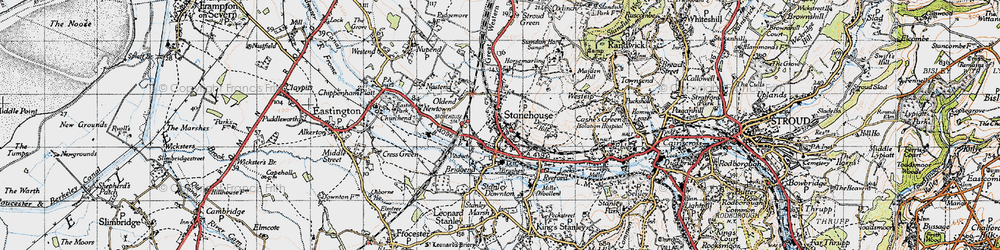 Old map of Stonehouse in 1946