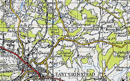 Old map of Ashplats Wood in 1946