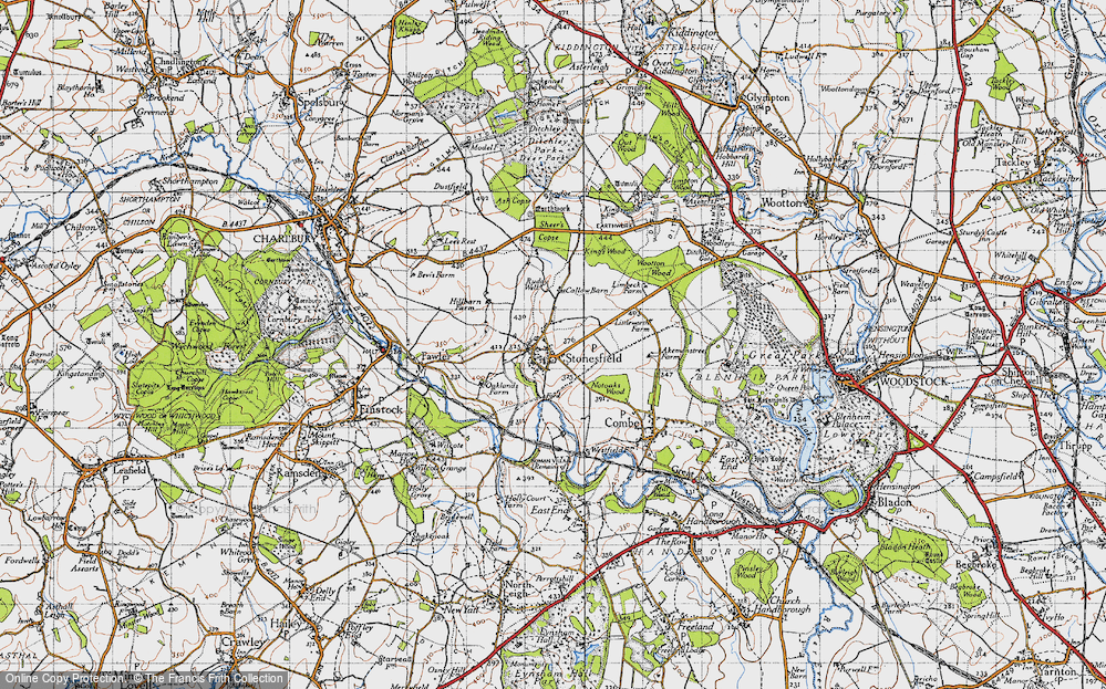 Old Map of Historic Map covering Ash Copse in 1946