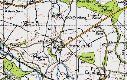 Old map of Ash Copse in 1946