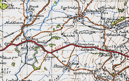 Old map of Asbatch in 1947