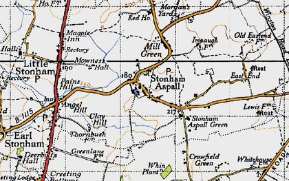 Old map of Whin Plantn in 1946