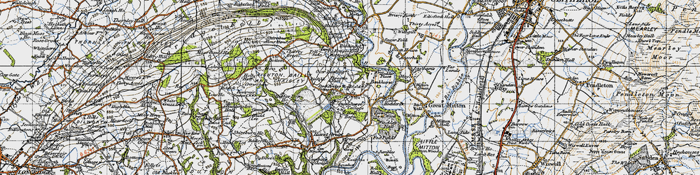 Old map of Woodfields in 1947
