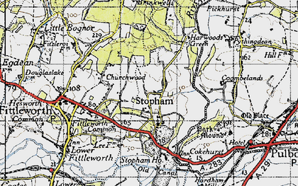 Old map of Stopham Ho in 1940