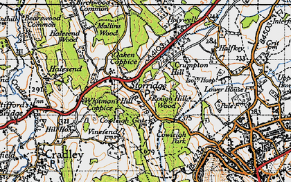 Old map of Whitman's Hill Coppice in 1947