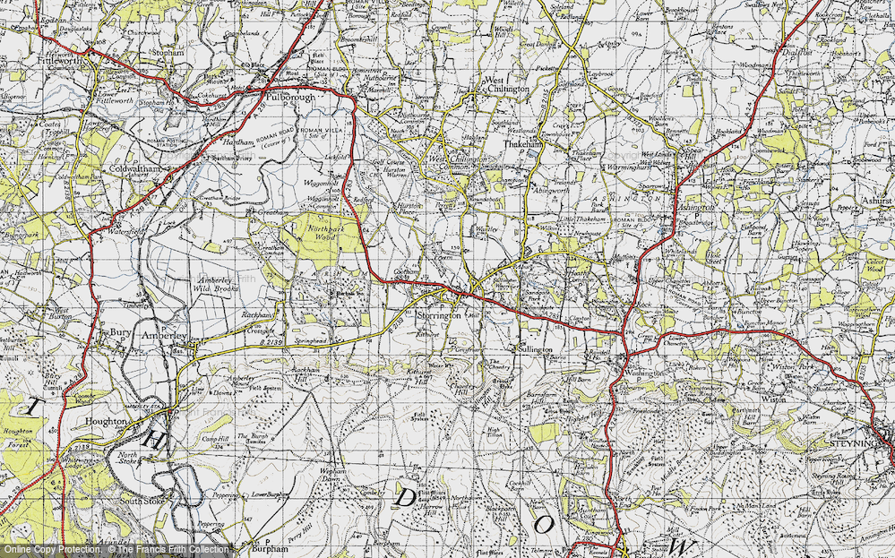 Old Map of Storrington, 1940 in 1940