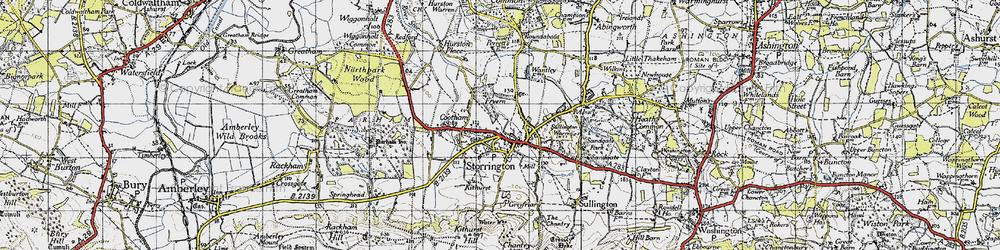 Old map of Storrington in 1940