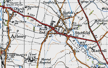 Old map of Stotfold in 1946