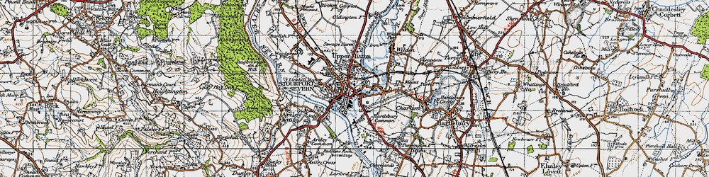 Old map of Stourport-on-Severn in 1947