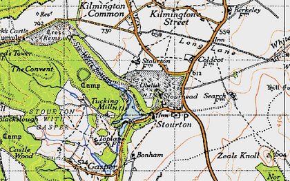 Old map of Stourhead in 1946