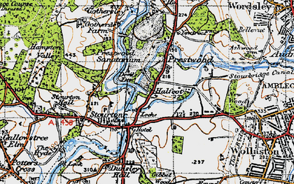 Old map of Stourton in 1947