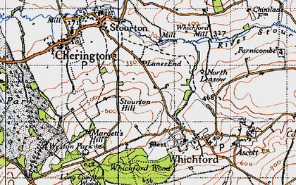 Old map of Whichford Mill in 1946