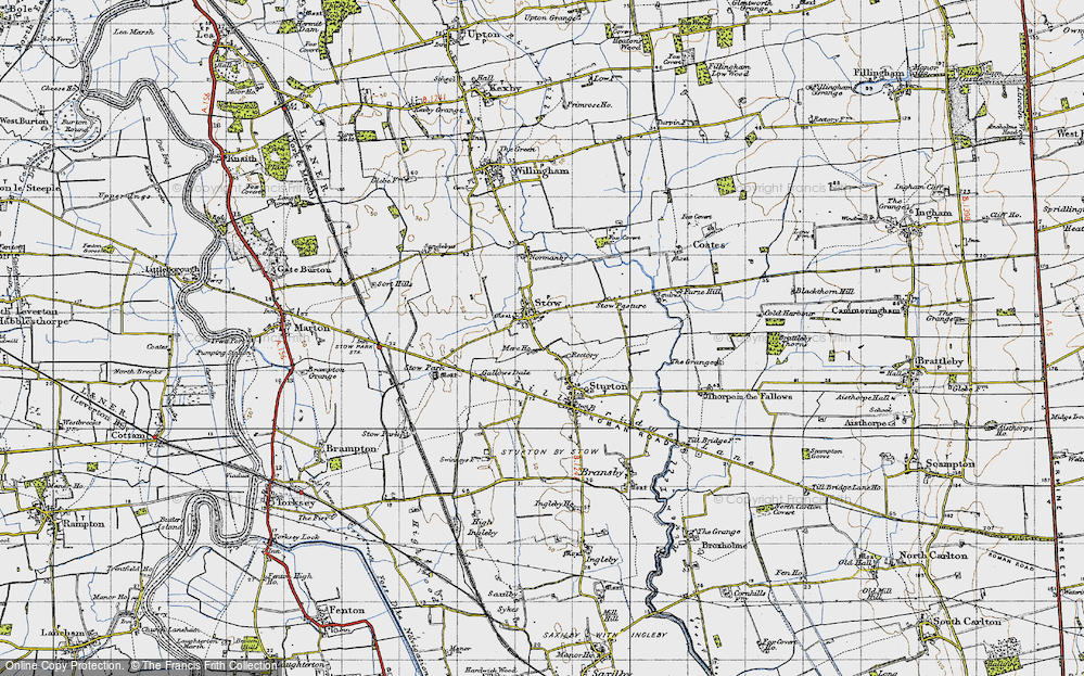 Old Map of Stow, 1947 in 1947