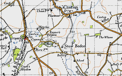 Old map of Whews, The in 1946