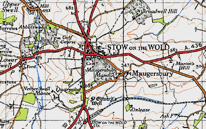 Old map of Stow-on-the-Wold in 1946