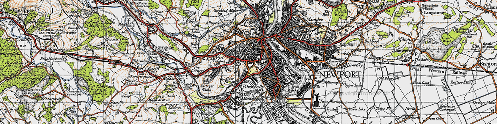 Old map of Stow Park in 1946