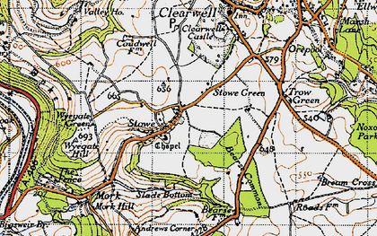 Old map of Stowe in 1946