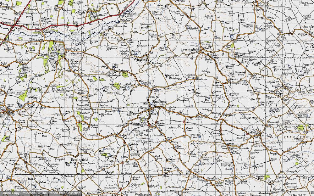 Old Map of Stradbroke, 1946 in 1946