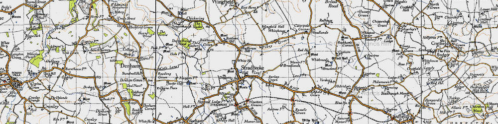 Old map of Wingfield Hall in 1946