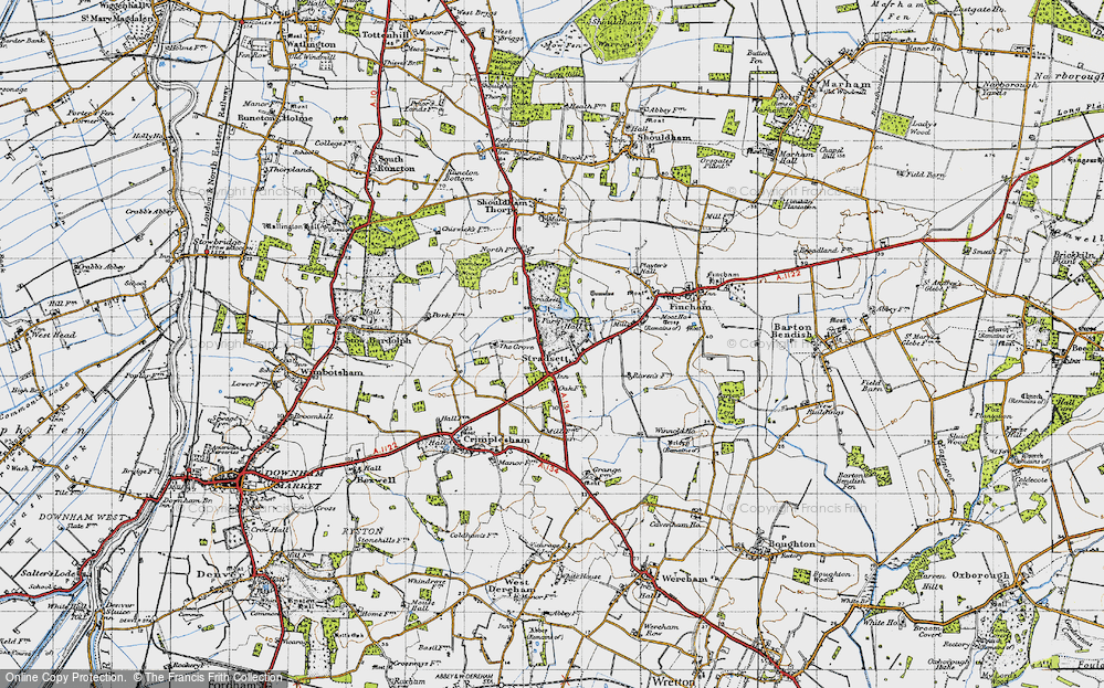 Old Map of Historic Map covering Toombers Wood in 1946