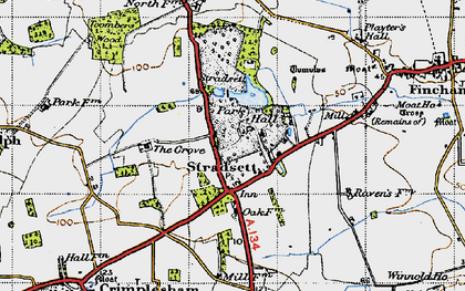 Old map of Toombers Wood in 1946