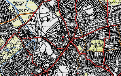 Old map of Stratford New Town in 1946