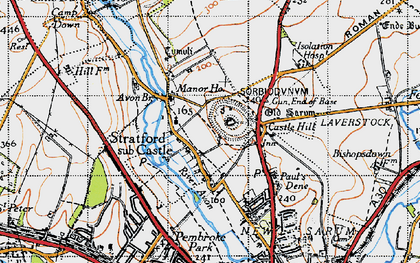 Old map of Avon Br in 1940