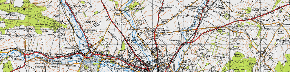Old map of Old Sarum in 1940