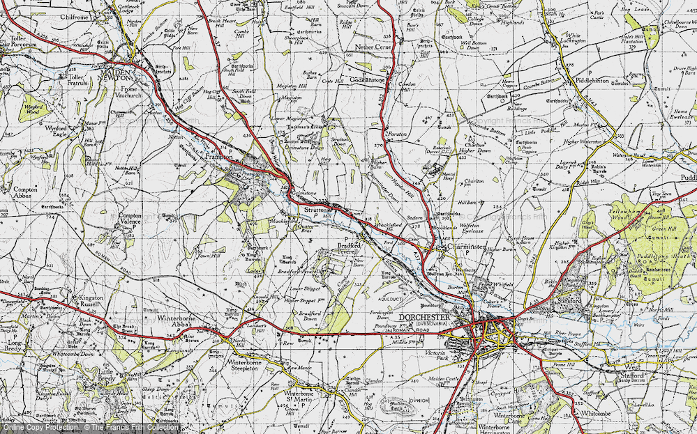 Old Map of Historic Map covering Ash Hill in 1945