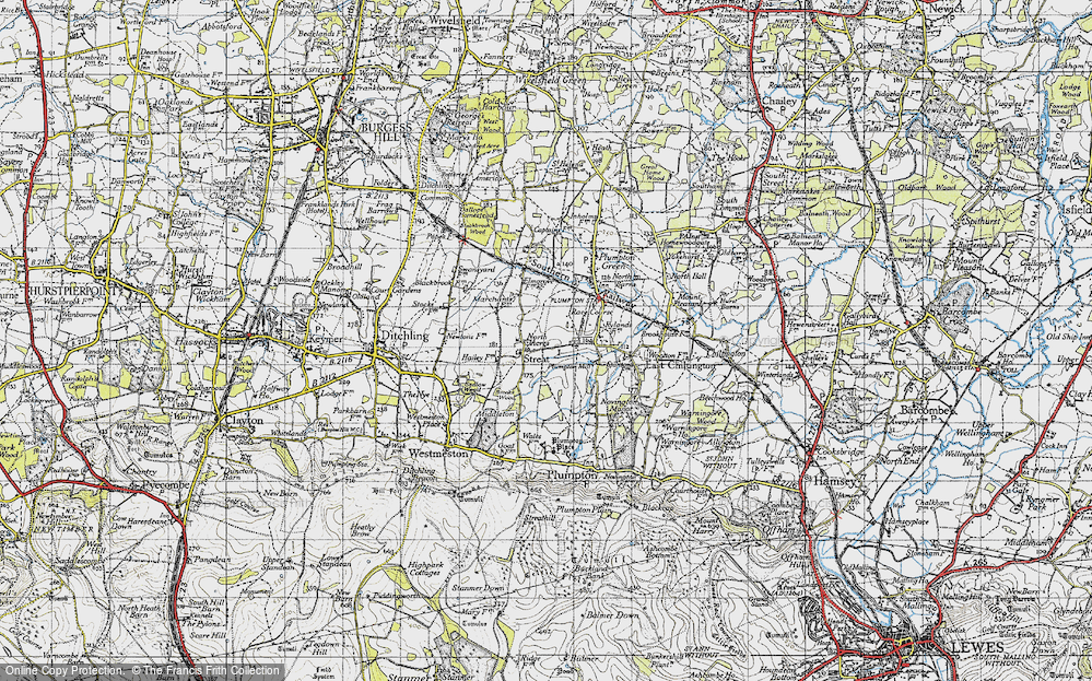 Old Map of Streat, 1940 in 1940