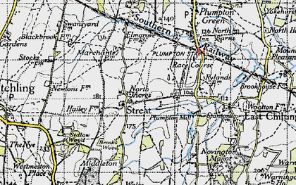 Old map of Ashurst in 1940
