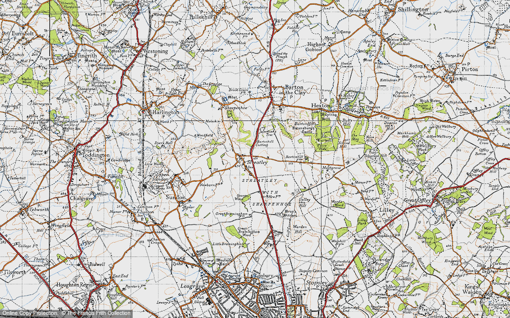 Old Map of Streatley, 1946 in 1946