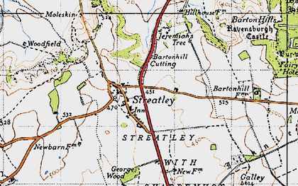 Old map of Streatley in 1946