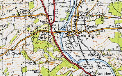 Old map of Streatley in 1947