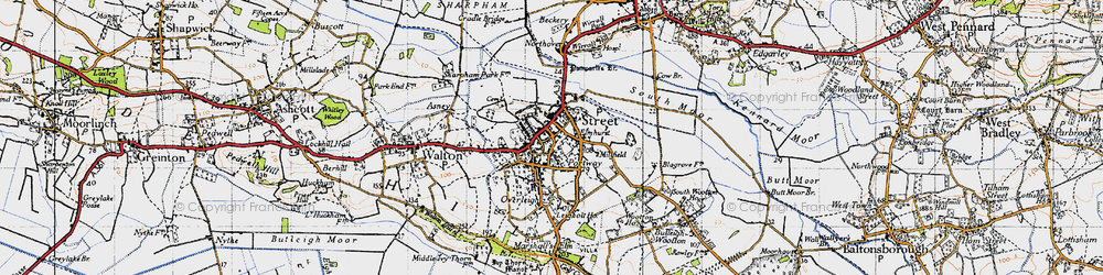 Old map of Street in 1946