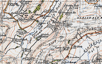 Old map of Ajalon Ho in 1947