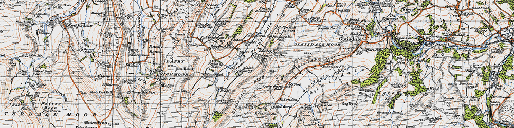 Old map of Wolf Pit (Tumulus) in 1947
